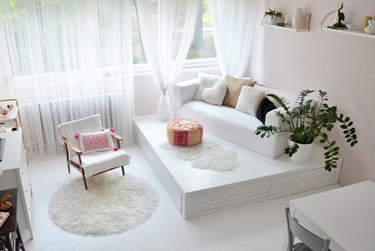 Panelfelújítás házilag – Másfél szobás lakás átalakulása képekben