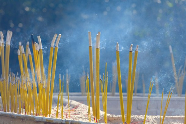 Incense sticks in chinese temple