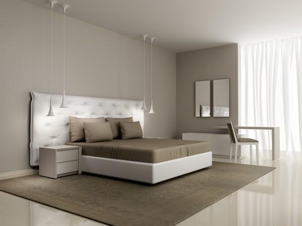 Egzotikus fehér hálószoba