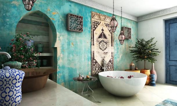 Egzotikus hideg fürdőszoba