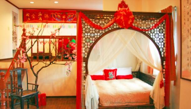 Egzotikus meleg hálószoba