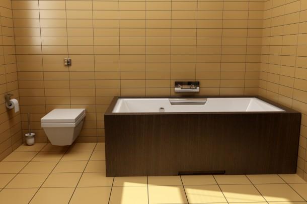 Egzotikus pasztell fürdőszoba