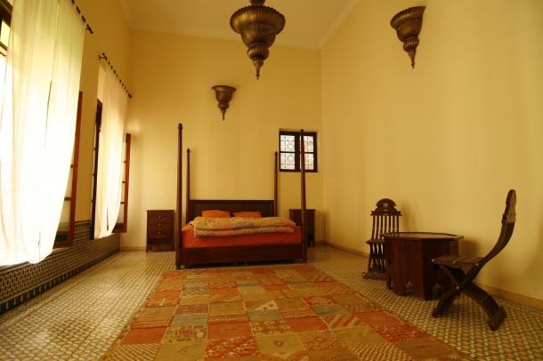 Egzotikus pasztell hálószoba