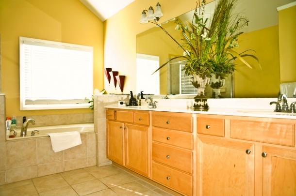 Klasszikus élénk fürdőszoba