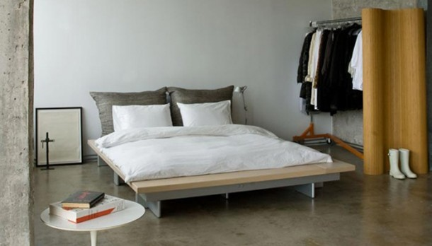 Minimál pasztell hálószoba