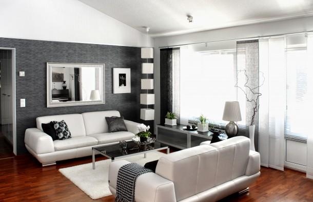 Nőies fekete nappali