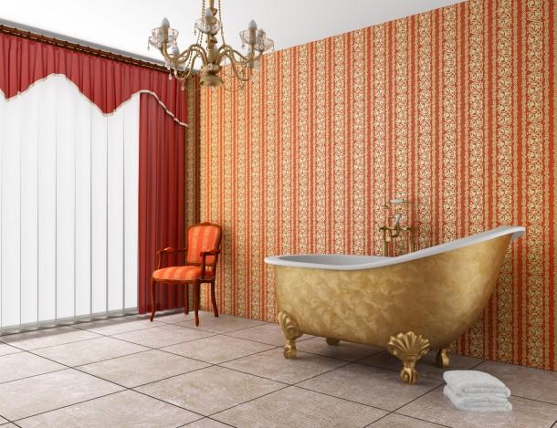 Nőies meleg fürdőszoba