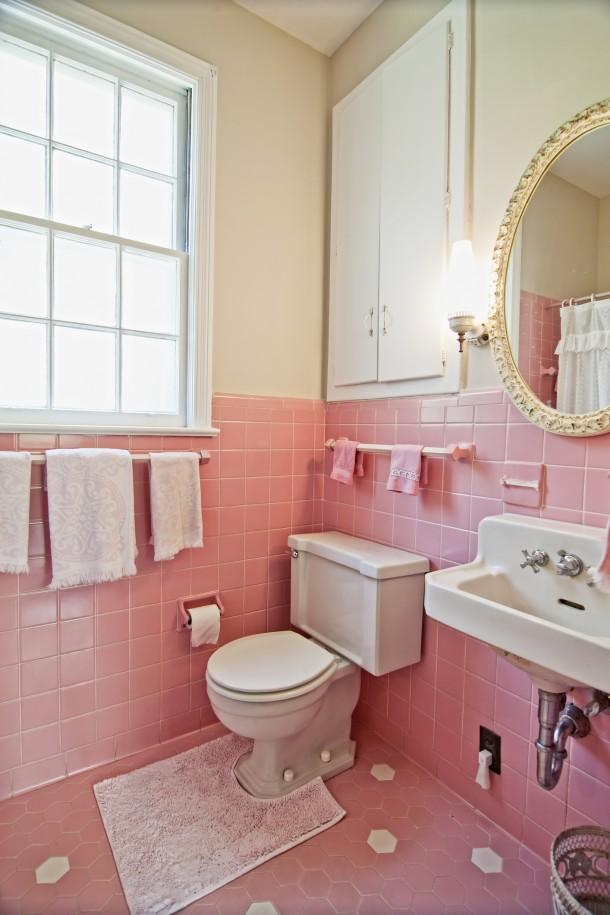 Nőies pasztell fürdőszoba