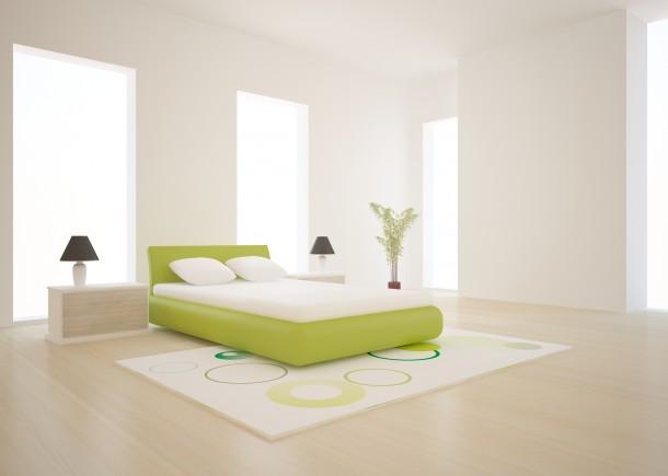 Retro fehér hálószoba