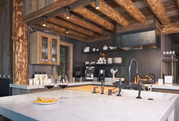 Rusztikus fekete konyha