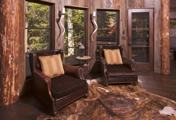 Rusztikus fekete nappali