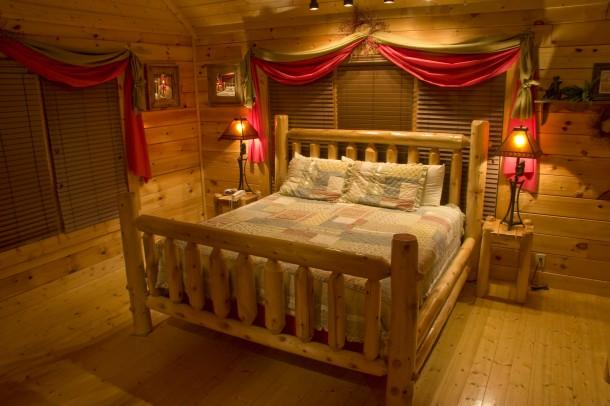 Rusztikus meleg hálószoba