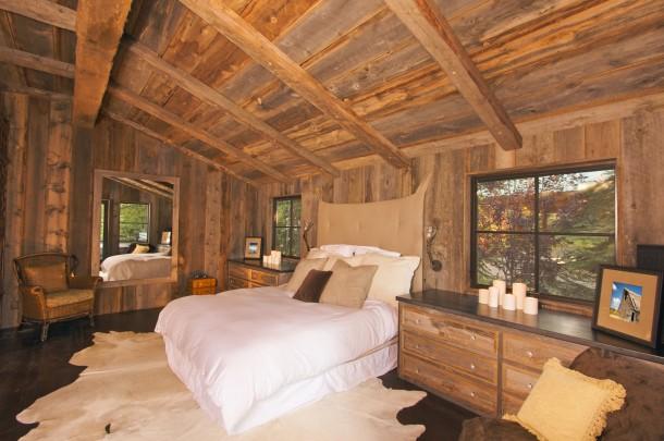 Rusztikus fehér hálószoba