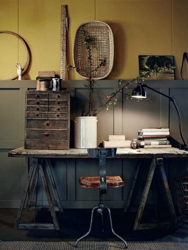 Rusztikus hideg dolgozószoba