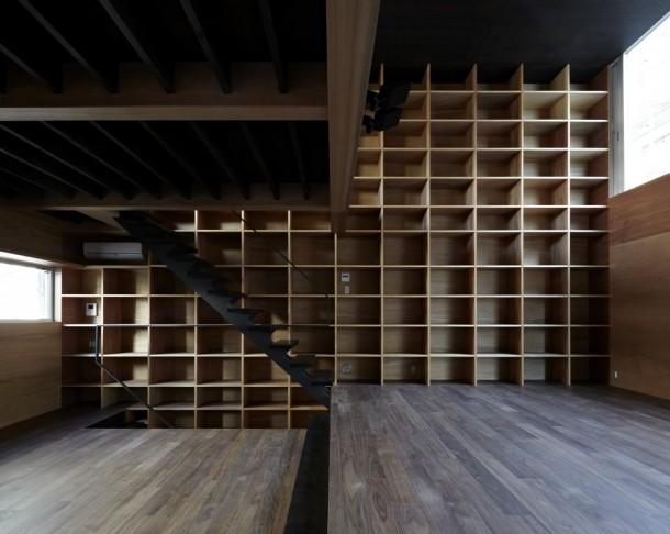 Modern könyvtárszoba épül