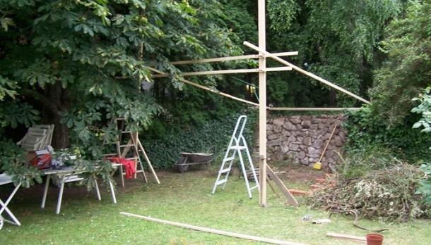 A kert nem használt zuga ideális terepnek bizonyult