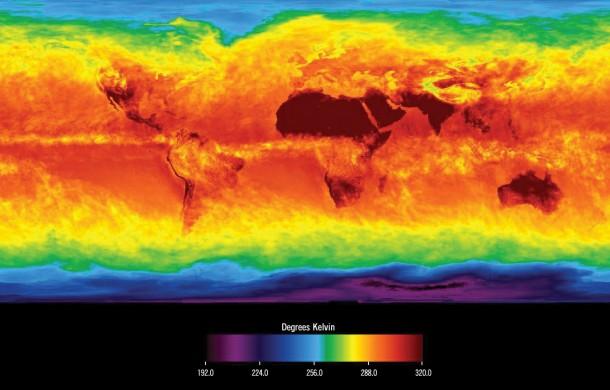 A NASA térképe a Föld napenergia-potenciáljáról