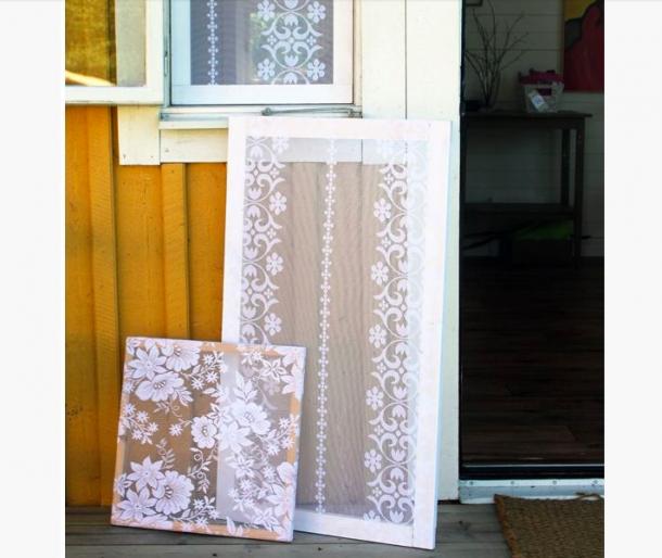 Csipkével dekoratív és hasznos szúnyoghálót készíthetsz