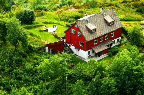 A családi házakhoz általában nagy kert tartozik