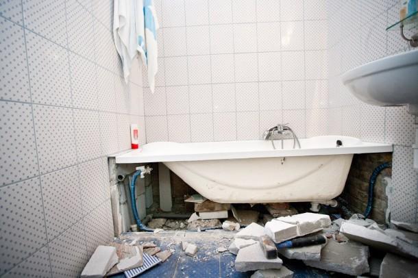 Vis maior a fürdőben