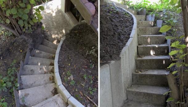 A ház alatt futó lépcsősor