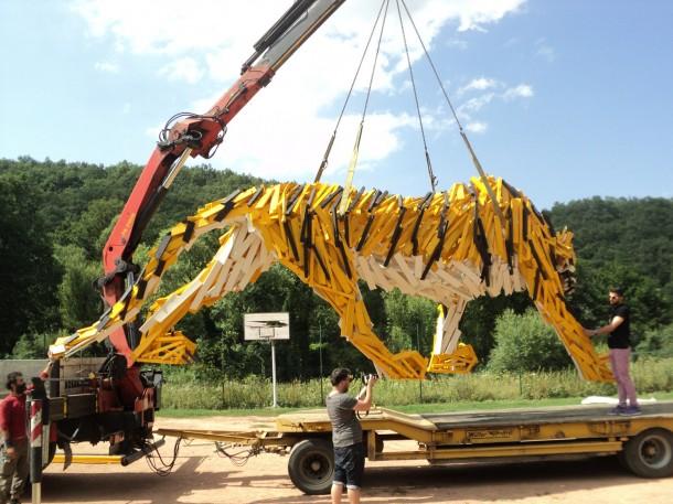 A tigris épp végső helyére kerül