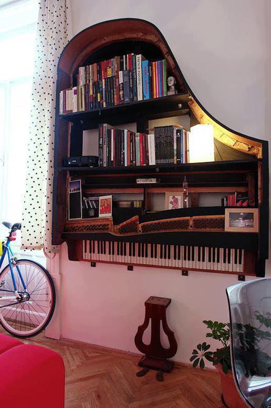 Könyvek a lakásban