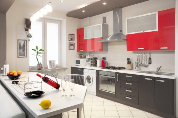 Modern konyha pirossal - kedvence a Kosnak