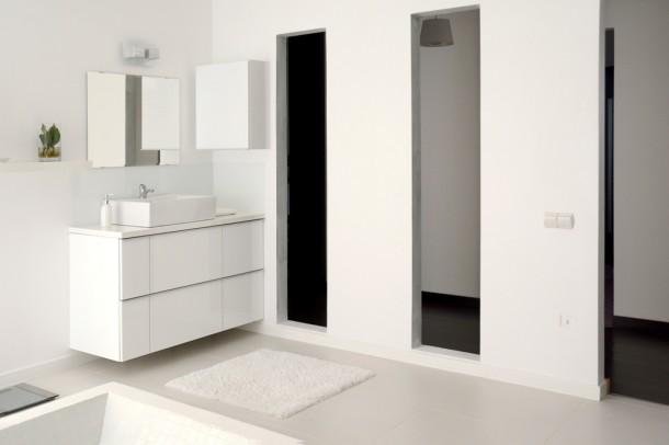 Az egységes színvilág a fürdőszobán is végigvonul