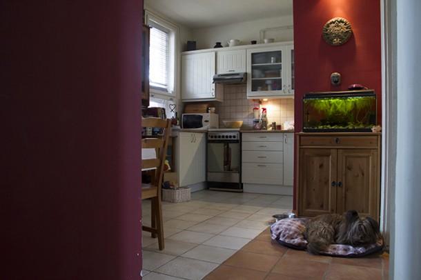 A konyha az étkezővel