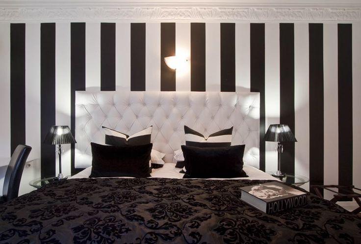 Fundamenta – Otthonok és megoldások Fekete-fehér csíkos lakásinspirációs képek - A legcsíkosabb ...