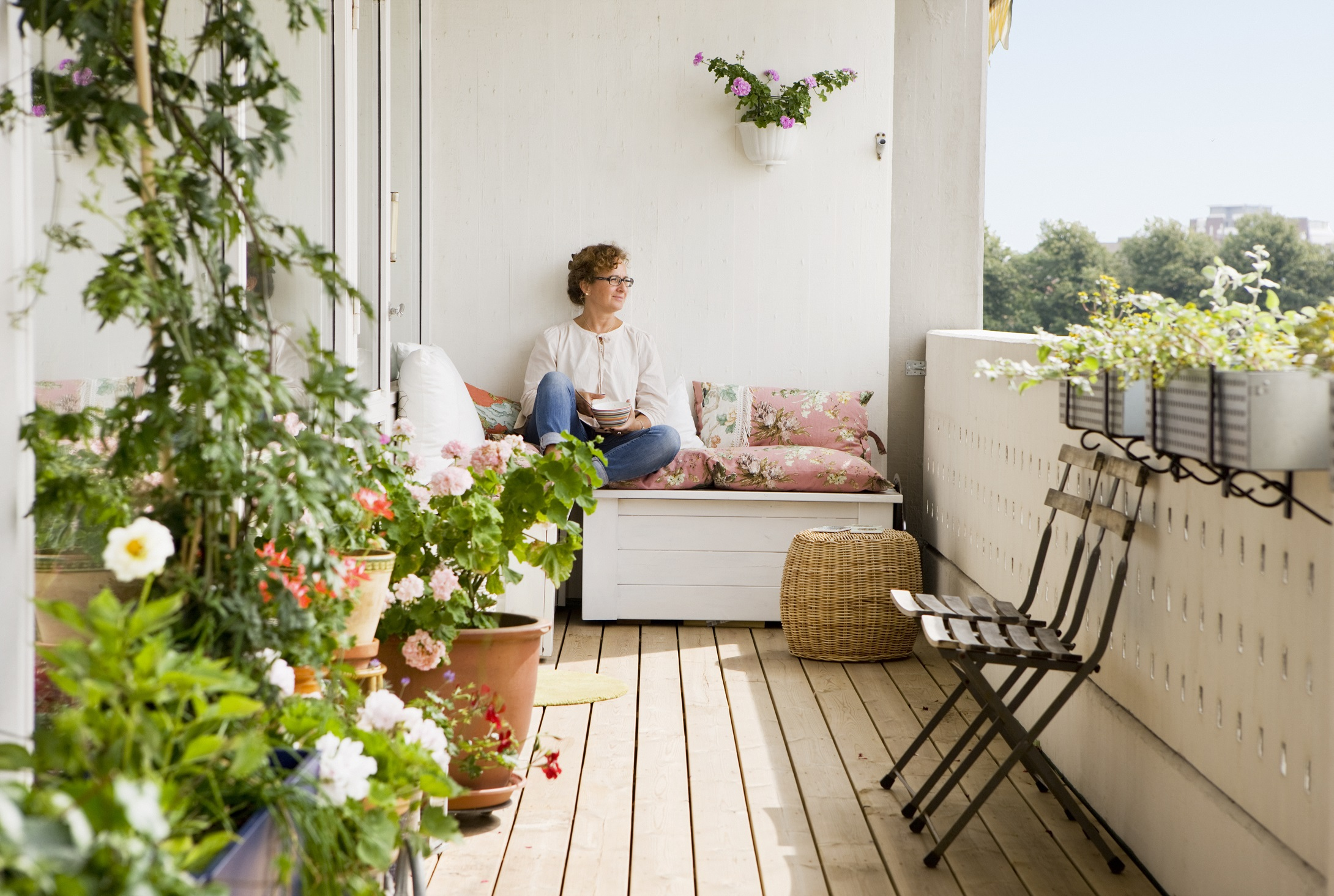 Flat Balcony Decoration Ideas