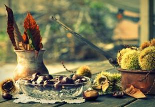 Őszi dekorációk gesztenyéből, Fotók: Europress