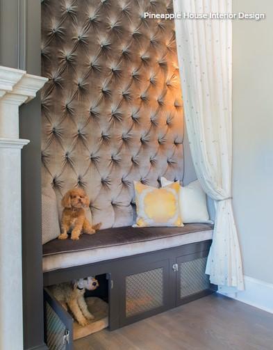 Beépített kutyafekhelyek a lakásban