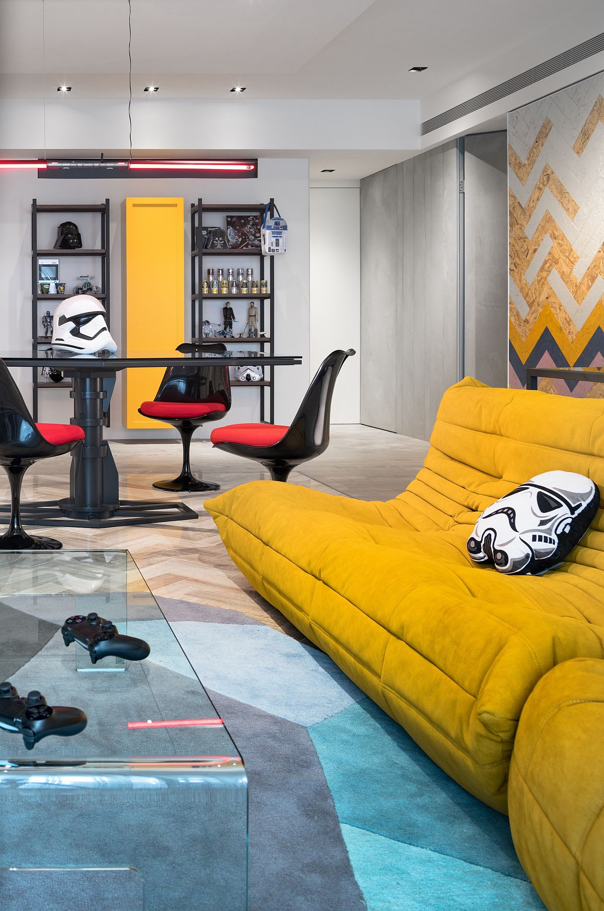 Fabulous-sofas-in-bright-yellow-add-a-fun-focal-point-to-the-open-living-room