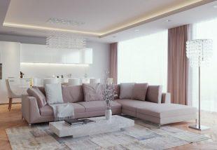 A legújabb trendek egyike: márvány dohányzóasztal a nappaliban