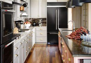 A konyha eleganciája matt feketébe öltöztetve