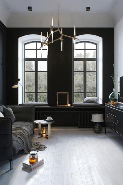 Ne féljünk a sötét színektől! A legszebb sötét szobák és nappalik egy helyen