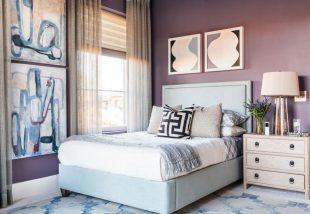 Lágyan lila hálószoba, melyben minden álom édes lehet