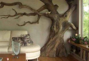 Fa a falon! Bámulatos dekorációs ötletek a szoba falára ágas-bogas fákkal