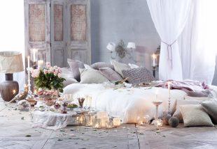 10+1 egyszerű hozzávaló egy valódi romantikus hálószobához