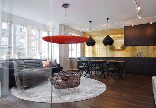 Ultramodern, felújított, csúsztatott zsalus lakás, különleges lámpákkal