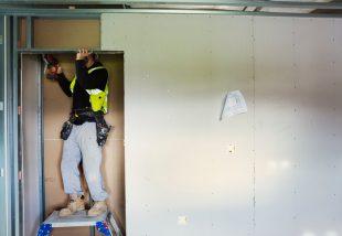 beépített szekrény házilag gipszkartonból