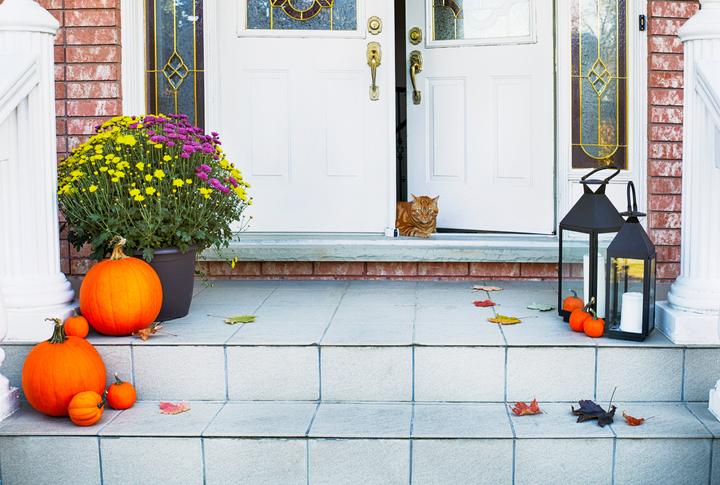 Itt a legfrissebb őszi dekortrend a bejárati ajtóra