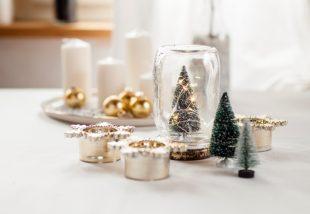 karácsonyi asztaldekoráció