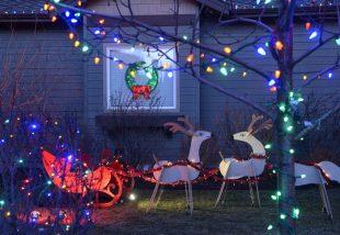 kültéri karácsonyi dekorációk
