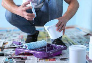 meszes fal festése diszperzittel