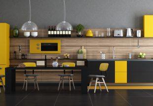 sárga konyhadekor