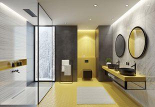 sárga fürdőszoba