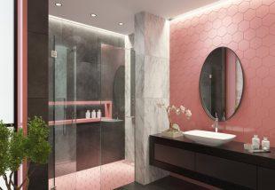 rózsaszín falicsempe